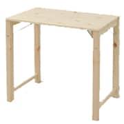 MJT-7850H(NA) [折りたたみ式パイン材テーブル(幅78 奥行50) ナチュラル]