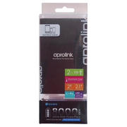 PWB80-M10-BK [UltraSlim PowerPack 8000mAh USB出力:2ポート 最大合計:2A Black]