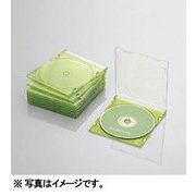 CCD-JSCS10CGN [Blu-ray/DVD/CDスリムプラケース (1枚収納/10パック) クリアグリーン]