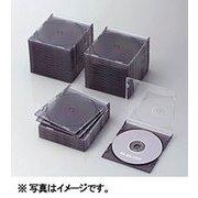 CCD-JSCS50CBK [Blu-ray/DVD/CDスリムプラケース (1枚収納/50パック) クリアブラック]