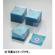 CCD-JSCS50CBU [Blu-ray/DVD/CDスリムプラケース (1枚収納/50パック) クリアブルー]