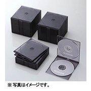 CCD-JSCSW50CBK [Blu-ray/DVD/CDスリムプラケース (2枚収納/50パック) クリアブラック]