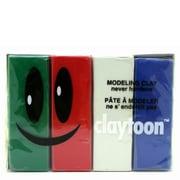 モデリングクレイ claytoon(1Pound)4色セット ホリデー [工作用ねんど]