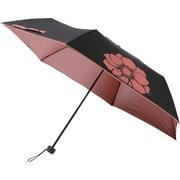 晴雨兼用折りたたみ傘 99.9% 折りたたみ傘 6本骨 50cm アネモネ [MBU-UVQ06]