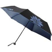 晴雨兼用折りたたみ傘 99.9% 折りたたみ傘 6本骨 50cm クレマチス [MBU-UVQ10]
