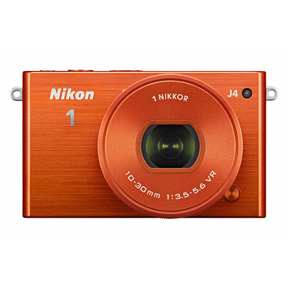 Nikon1 J4 標準パワーズームレンズキット オレンジ [ボディ+交換レンズ「NIKKOR VR 10-30mm f/3.5-5.6 PD-ZOOM」]
