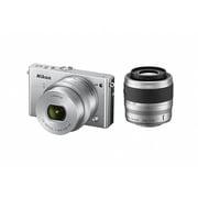 Nikon1 J4 ダブルズームキット シルバー [ボディ+交換レンズ「NIKKOR VR 10-30mm f/3.5-5.6 PD-ZOOM」「NIKKOR VR 30-110mm f/3.8-5.6」]