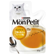 モンプチ スープ [猫用 キャットフード 1歳~10歳 ピュアスープ 2種の魚介のコンソメ風 40g]