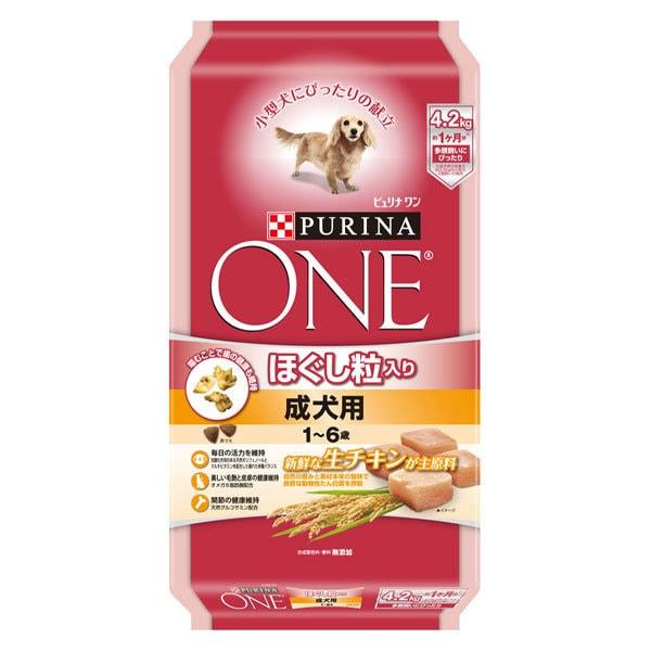 ピュリナワン [犬用 ドッグフード ほぐし粒入り 1~6歳 成犬用 チキン 4.2kg]