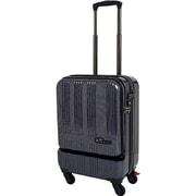 SK-0685-48 [スーツケース フロントオープン 旅行日数目安:1~2泊 35L TSAロック搭載 機内持ち込み可 ネイビーカーボン]