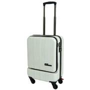 SK-0685-48 [スーツケース フロントオープン 旅行日数目安:1~2泊 35L TSAロック搭載 機内持ち込み可 ホワイトカーボン]