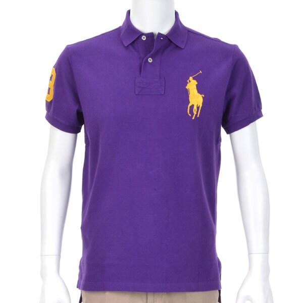 ポロシャツ 半袖 S D62 PURPLE [Sサイズ パープル]