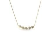 K18ダイヤモンドペンダントネックレス0.40ctup [小豆チェーン40cm]