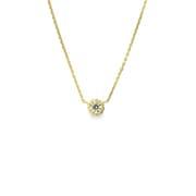K18ダイヤモンドペンダントネックレス0.20ctup [小豆チェーン40cm]