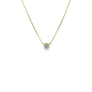 K18ダイヤモンドペンダントネックレス0.10ctup [小豆チェーン40cm]