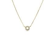 K18ダイヤモンドペンダントネックレス0.05ctup [小豆チェーン40cm]