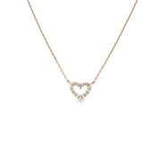 K18PGダイヤモンドペンダントネックレス0.10ctup [小豆チェーン40cm]