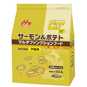 Super Gold (スーパーゴールド) サーモン&ポテト マルチファンクションフード [子猫用 ドライフード 500g]