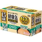 15歳からの健康缶6P とろとろペースト かつお [猫用 15歳~ 40g×6缶]