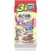 総合栄養食パウチ [成猫用 キャットフード 15歳以上用 まぐろ入りかつお 60g×3袋]