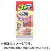 総合栄養食パウチ [成猫用 キャットフード 15歳以上用 お魚ミックス まぐろ 白身魚 あじ入りかつお 60g×3袋]