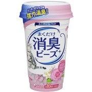 猫トイレまくだけ [香り広がる消臭ビーズ やさしいピュアフローラルの香り 450ml]