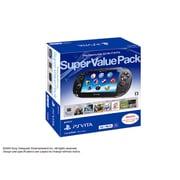 PlayStation Vita Super Value Pack 3G/Wi-Fiモデル クリスタル・ブラック [PS Vita本体 PCHJ-10019]