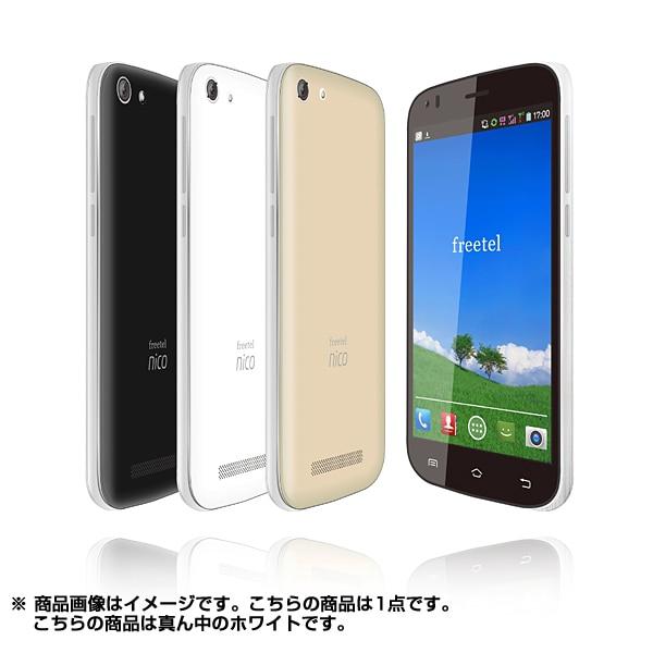 FT141B WH [nico Android 4.4搭載 5.0インチ液晶 SIMフリースマートフォン 3G専用 ホワイト]