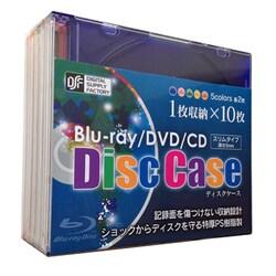 OA-RBCD1-10MIX [ブルーレイ DVD CDスリムケース (1枚収納 10パック) ミックス]