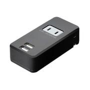 IPA-24AC/BK [コンセント付USB充電器 2.4A 黒]