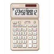 EL-VN82-NX [カラー・デザイン電卓 電卓50周年記念モデル ナイスサイズタイプ 12桁 シャンパンゴールド]