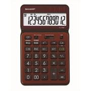 EL-VN82-TX [カラー・デザイン電卓 電卓50周年記念モデル ナイスサイズタイプ 12桁 ブラウン]