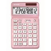 EL-VN82-PX [カラー・デザイン電卓 電卓50周年記念モデル ナイスサイズタイプ 12桁 エレガントピンク]