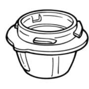 JO0185 [ミルミキサー用お茶カップ]