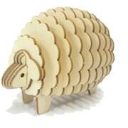 Wooden Art ki-gu-mi ヒツジ [木製立体パズル]