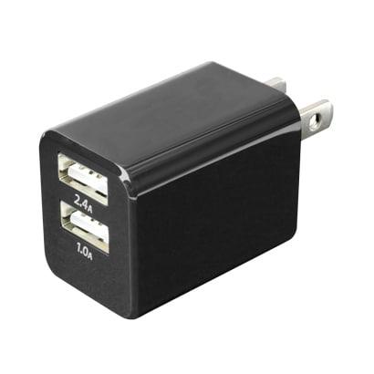 IPA-24U/BK [USB-ACアダプタ 2.4Aタイプ 黒]