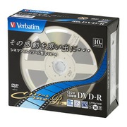 VHR12JC10V1 [DVD-R 1回録画用 120分 1-16倍速 10枚 キネアールデザイン]