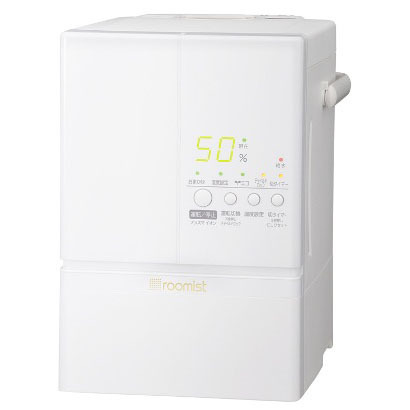 SHE60LD-W [roomist(ルーミスト) 加湿器(スチームファン蒸発式) 木造10畳:プレハブ洋室17畳 ピュアホワイト]