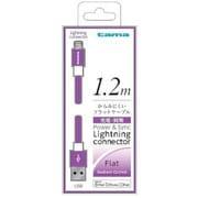 TIH13LP [Lightning充電・同期ケーブル フラットタイプ 1.2m パープル]