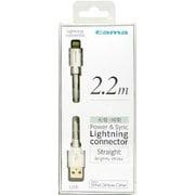 TIH12LW [Lightning充電・同期ケーブル ストレートタイプ 2.2m ホワイト]