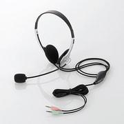HS-HP22SV [ヘッドセット 両耳小型オーバーヘッドタイプ 1.8m シルバー]
