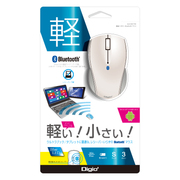 MUS-BKT99W [Bluetooth対応 LEDマウス 3ボタン ホワイト]