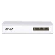 LSW4-TX-8NS/WH [10/100Mbps対応スイッチングハブ 8ポート 金属筐体/電源内蔵モデル]