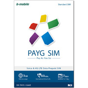 BM-PAYG-3G60E [b-mobile(ビーモバイル) PAYG SIM (StandardSIM) English]