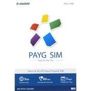 BM-PAYG-3G60ME [b-mobile(ビーモバイル) PAYG SIM (MicroSIM) English]