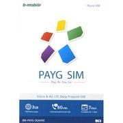 BM-PAYG-3G60NE [b-mobile(ビーモバイル) PAYG SIM  (NanoSIM) English]
