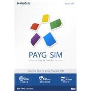 BM-PAYG-3G60NC [b-mobile(ビーモバイル) PAYG SIM (NanoSIM) Chinese]