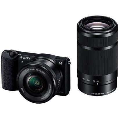 ILCE-5100Y B [α5100 (アルファ5100) ダブルズームレンズキット ボディ+交換レンズ 「E PZ 16-50mm F3.5-5.6 OSS」「E 55-210mm F4.5-6.3 OSS」 ブラック]