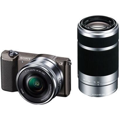 ILCE-5100Y T [α5100 (アルファ5100) ダブルズームレンズキット ボディ+交換レンズ 「E PZ 16-50mm F3.5-5.6 OSS」「E 55-210mm F4.5-6.3 OSS」 ブラウン]