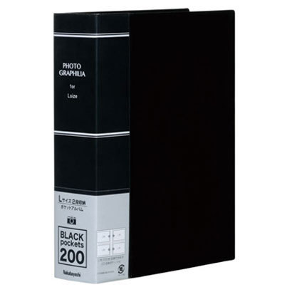 PHL1020D [フォトグラフィリア L判 2段 200枚収納 ブラック]